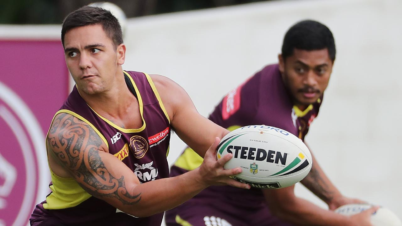 Kodi Nikorima and Anthony Milford are key for the Broncos. Picture: Peter Wallis