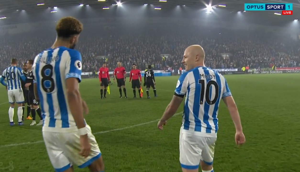 Aaron Mooy looks relieved after the win over Fulham
