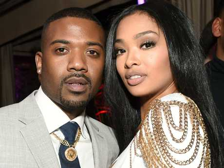 Singer Ray J (with Princess Love) has had his sex claims rebutted by Kim Kardashian who says he is a 'pathological liar'. Picture: Emma McIntyre/Getty Images