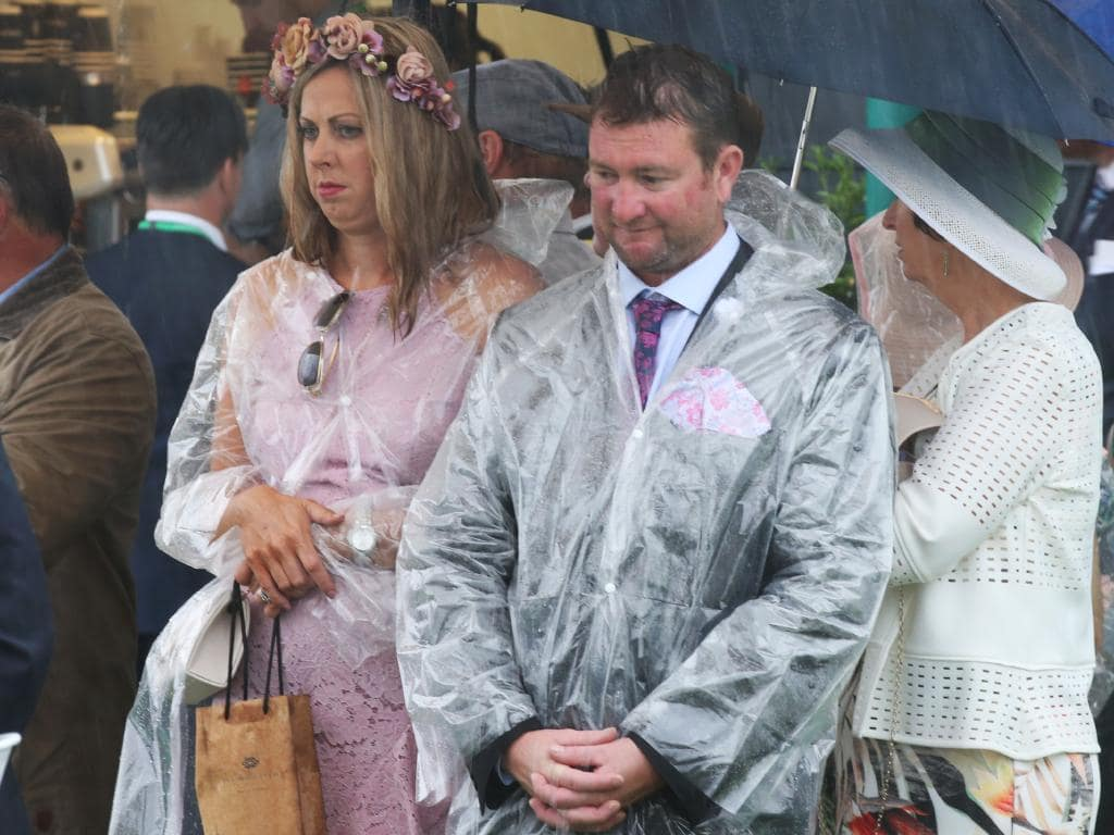 These two punters look as though they might be regretting some life choices today. Picture: AAP Image/Dave Crosling