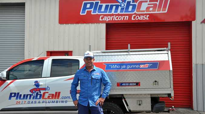 EFFICIENT, RELIABLE: Simon Arnold is living the dream with his new Plumbcall business in Yeppoon.