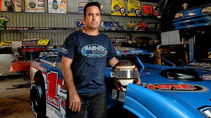 BUILT FOR SUCCESS: Queensland Super Sedan champion Matt Pascoe with his new car.