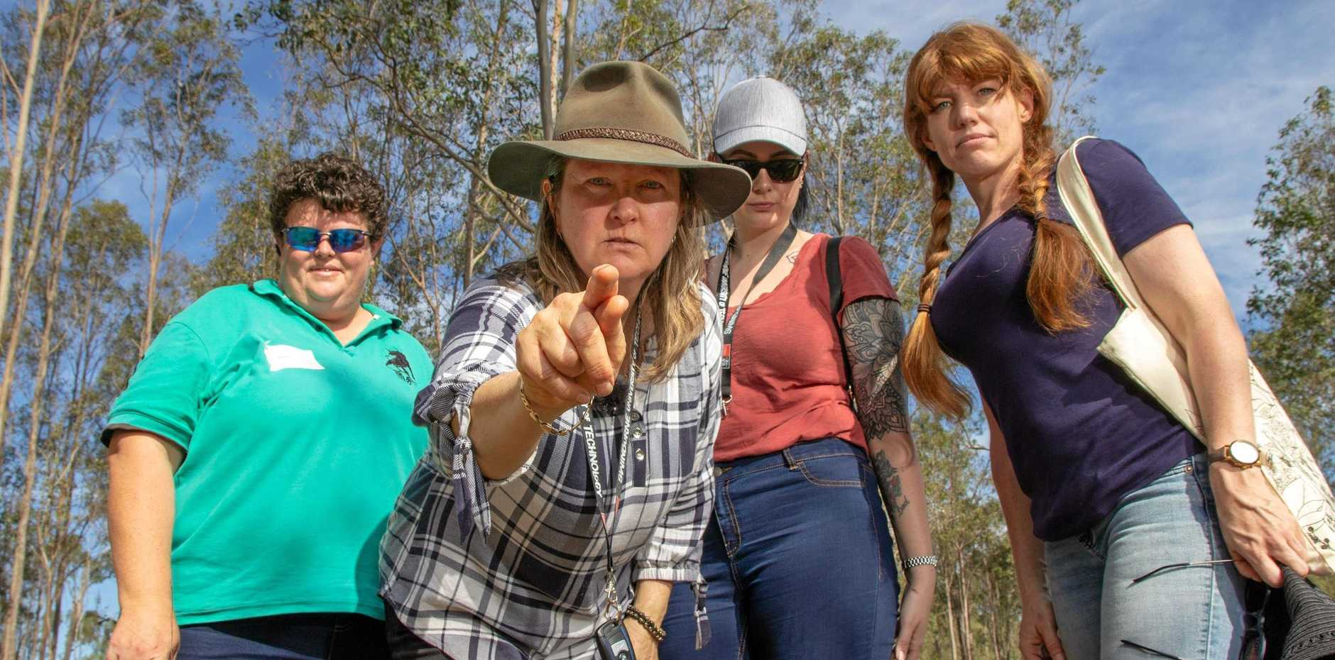 UNCOVER THE PAST: Dr Louise Steding and University of Swinburne students investigated the Murphys Murders cold case in Gatton over the weekend.