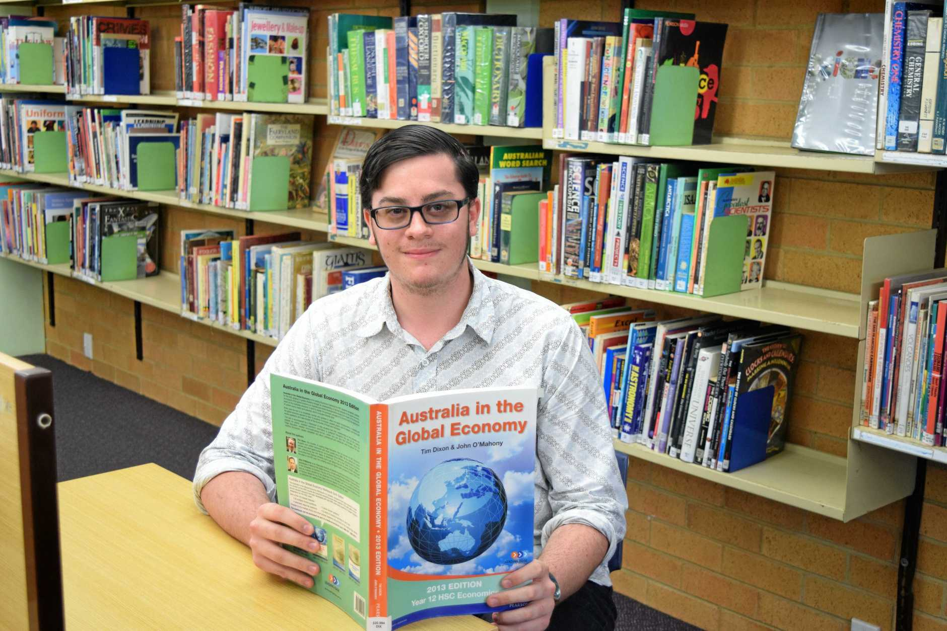 CALLING FOR CHANGE: Alstonville High's Eli McLean is looking forward to finishing his final HSC exam tomorrow in more ways than one.