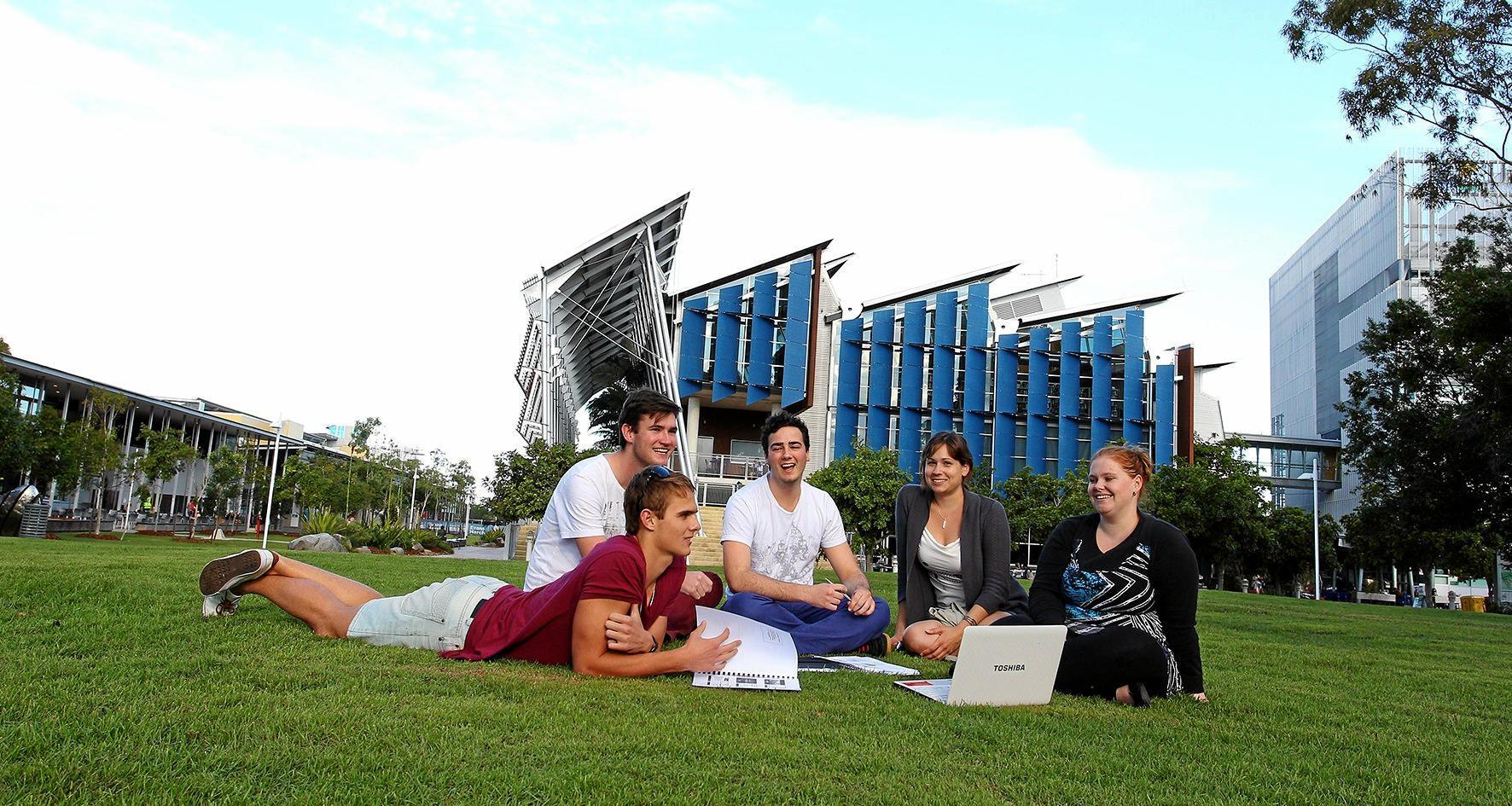 University of the Sunshine Coast students Linnea Persson, Rory Sanders, Jackson Kellaway, Mark Turner and Sharni Wilson.