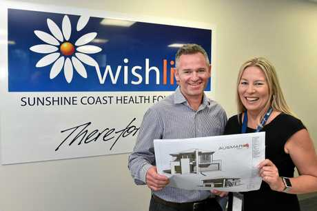 Wishlist CEO Lisa Rowe and Ausmar Homes business unit manager Josh Green