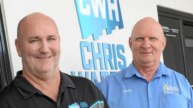 Chris Warren of Chris Warren Homes and Master Builders Regional Manager Dennis Bryan deplore cuts to the First Home Owner grants