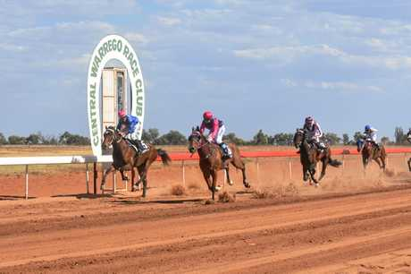 Natalie Morton on Real Ordeal takes out the first race on Charleville Cup day, followed by Shane McGovern on Lenroy, John Rudd on El Arish and Adin Thompson on Casual Intent.