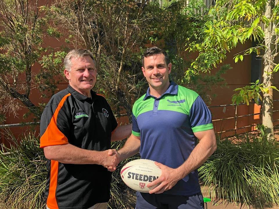 ROARING AGAIN: Southern Suburbs president Keith Canning (left) with new head coach Liam Capewell.