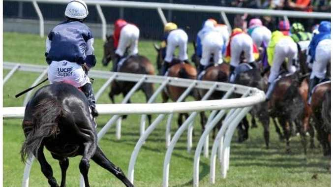 HORROR: The Cliffsofmoher goes down in yesterday's Melbourne Cup.