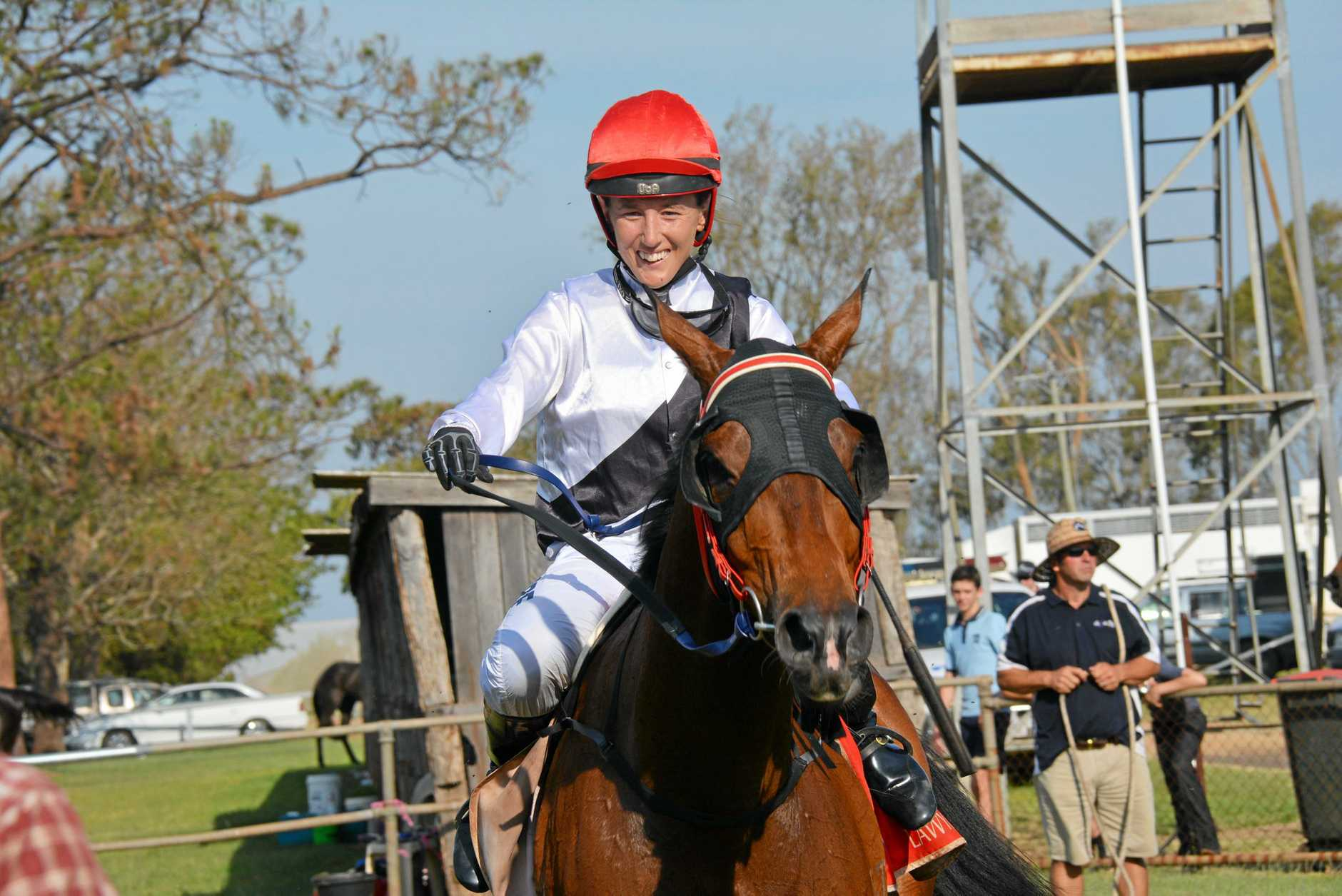 Hannah Phillips on Kumbia Cup winning horse Still the Same at the Kumbia Rcaes.