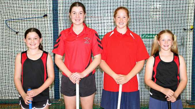 RELATIVE RIVALRY: Rockhampton sisters Amelia and Ella McDonnell and Taylah and Charlie Vidler will play on opposing teams at the Queensland under-13 girls challenge this weekend.