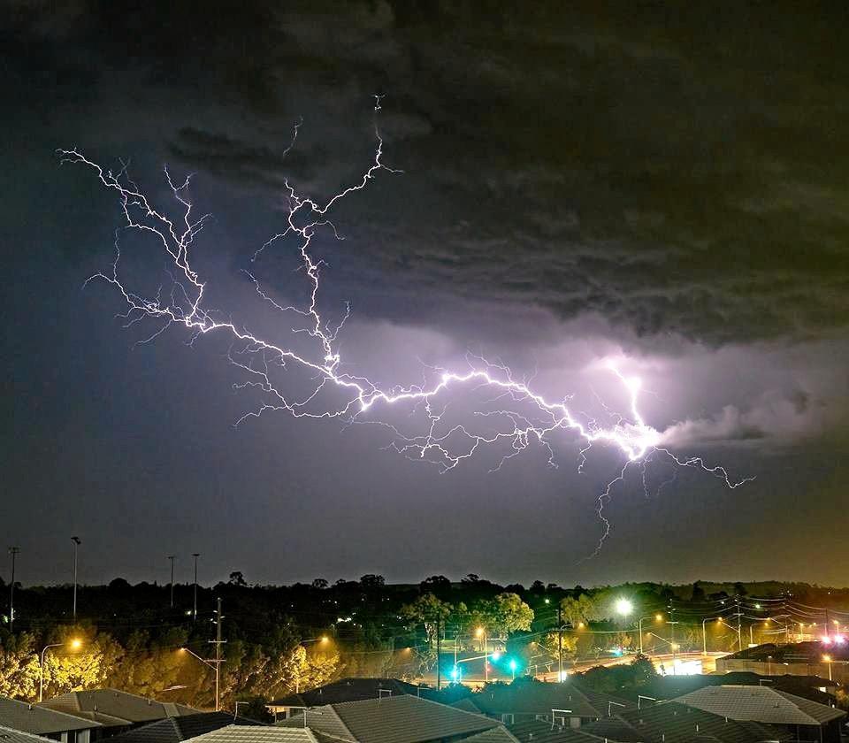 Lightning strike at Redbank Plains.