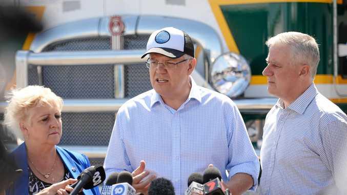 Michelle Landry, Prime Minister Scott Morrison and Deputy Prime Minister Michael McCormack.