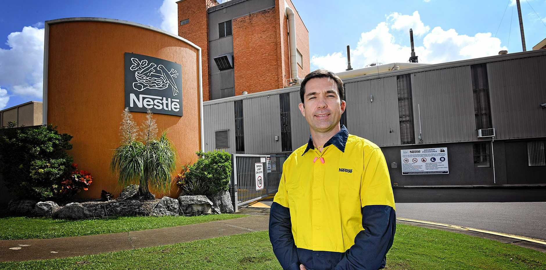 Nestle Gympie new 35 metre tower Richard Jones Factory Manager.