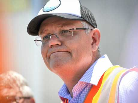 Australian Prime Minister Scott Morrison met with workers at Boyne Smelters Limited during his visit to Gladstone as part of his state-wide tour up the Queensland coast on November 7, 2018.