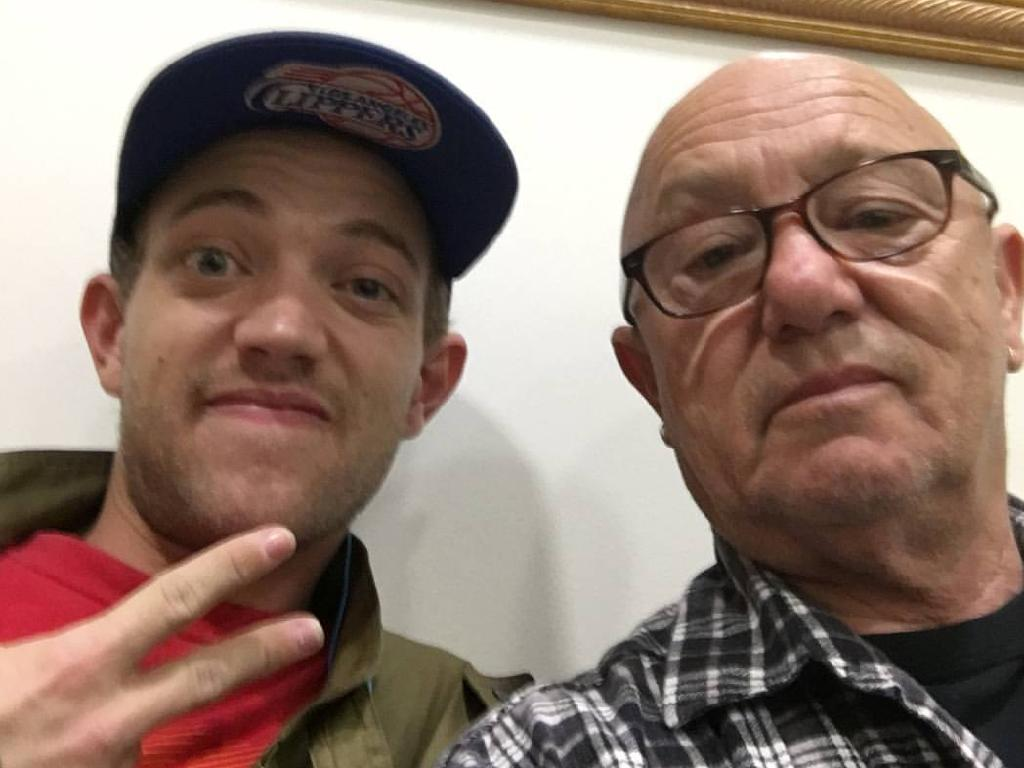 Liam with his dad from Angry Anderson's official Facebook page.
