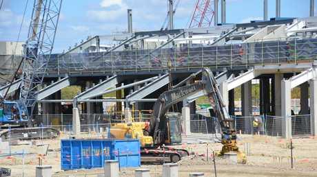 North Queensland Stadium under construction in September 2018 Townsville