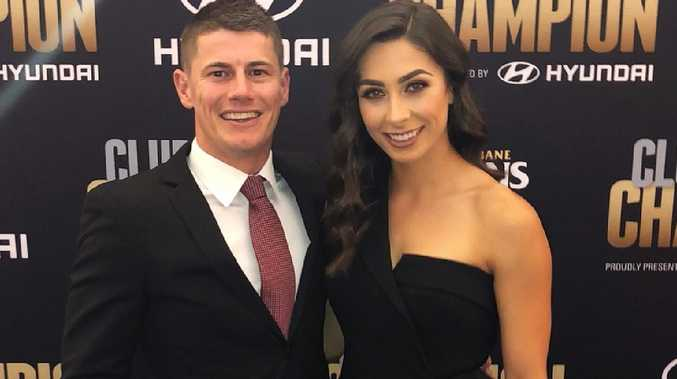 Dayne Zorko and Kalinda Salla in happier times (Instagram picture)