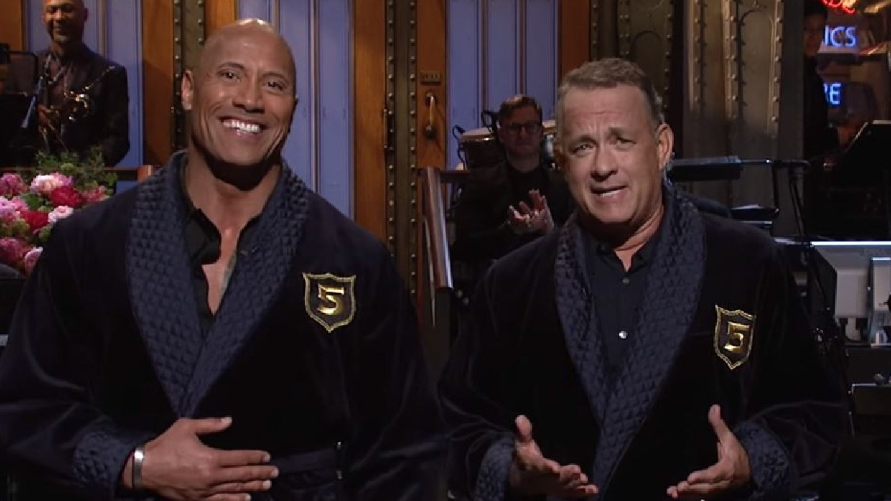 The Rock or Tom Hanks as US president? According to former official, they could be top candidates. Tom Hanks. Picture: Saturday Night Live