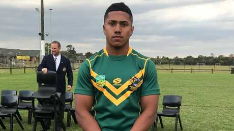 Marsden State High School student Tesi Niu who has been signed by the Broncos.