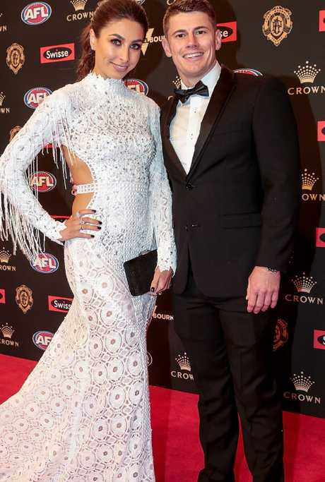Dayne Zorko and Kalinda Salla at the 2018 Brownlow Medal