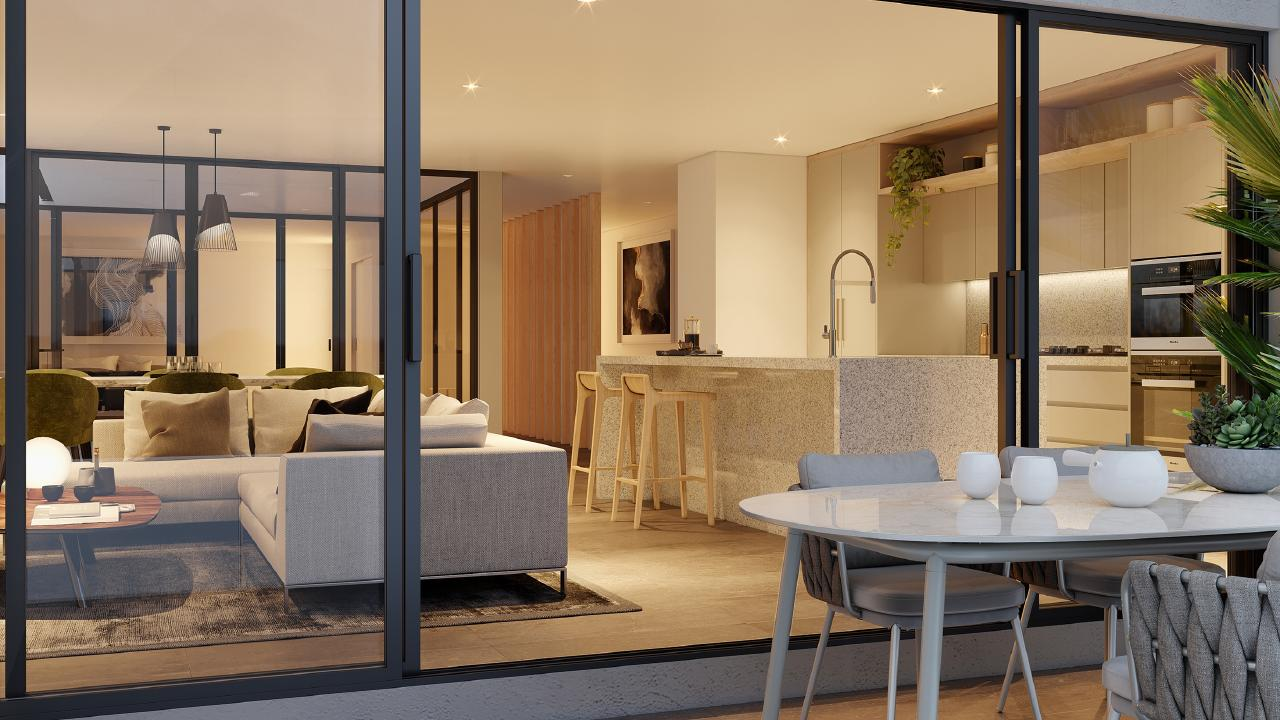 Artist's impression of an Essentia townhouse.
