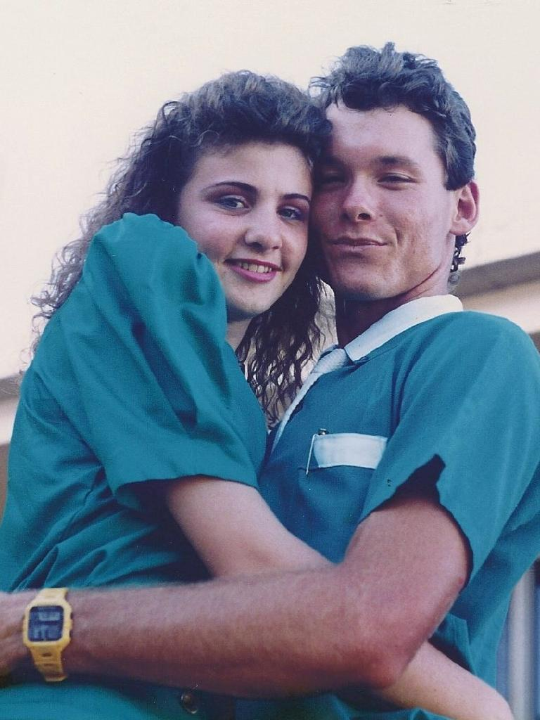 Suzy and Scott Wallace when they were younger.