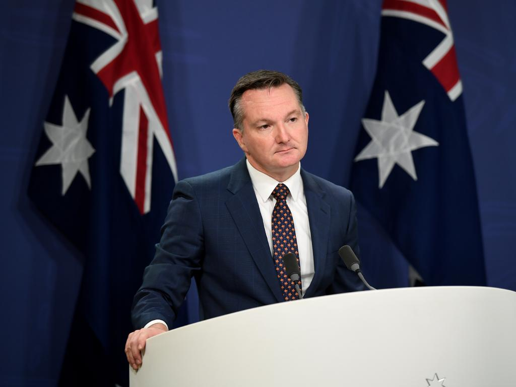 Shadow Treasurer Chris Bowen speaks to the media in Sydney on Wednesday. Picture: AAP