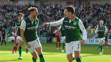Boyle plays alongside Socceroos forward Jamie MacLaren at Hibs. Picture: Getty