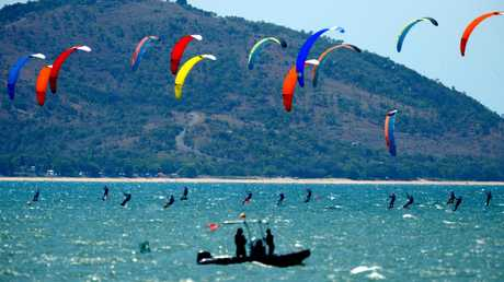 Australian hydrofoil championships off The Strand, Townsville.
