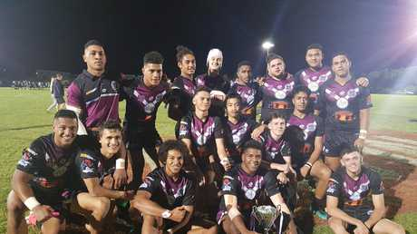 The 2018 Marsden State High School rugby league team which featured Tesi Niu and Augustine Stowers.