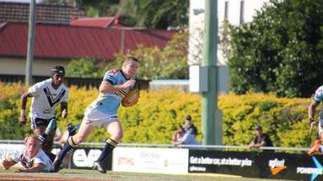 Joshua James on the move for Norths Devils.