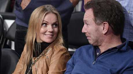 Geri with her husband, F1 boss Christian Horner. Picture: AP