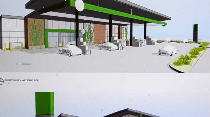 NEW VIEW: An artist's impression of the new look service station with the proposed Hungry Jack's eatery.