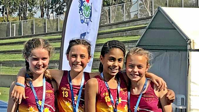 SPEED QUEENS: St Carthage's relay star quartet of Lilly Comber, Maggie Lynch, Natasha Moretti and Leo Robertson powered through five heats against 40 teams and took silver in the final comprising nine teams to be named second fastest in NSW.