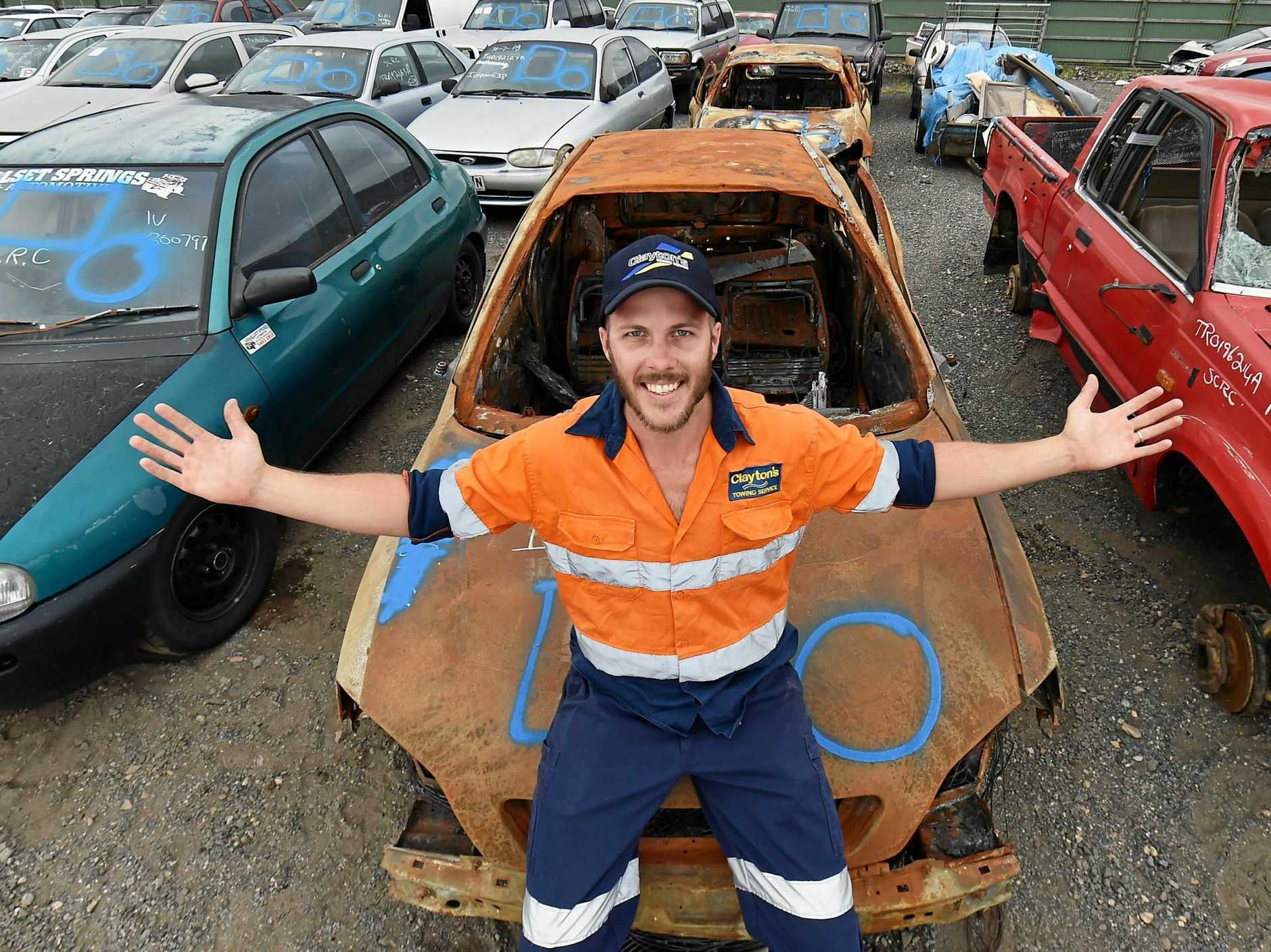 BARGAIN BUYS: Clayton's Towing are having its auction again, with 300 plus cars on offer.