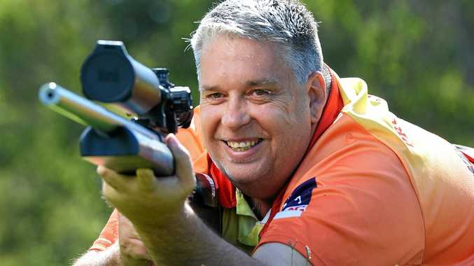 Brookwater target rifle shooter Brian Hansen has discovered a new sporting passion