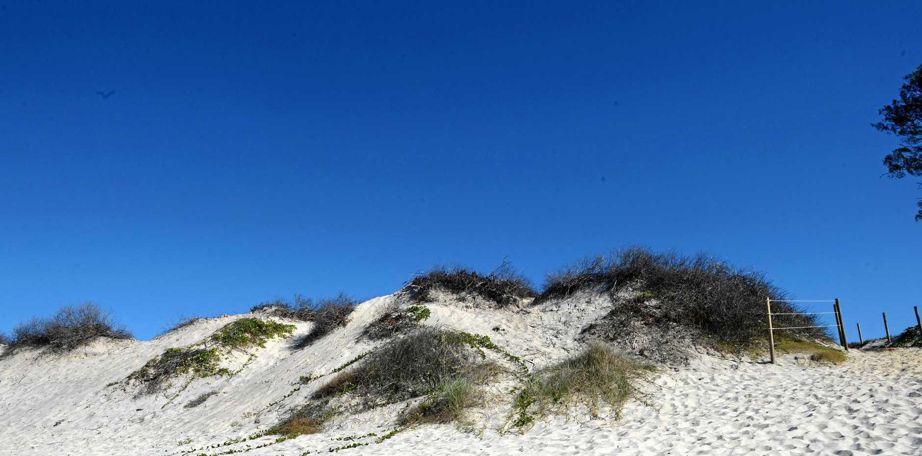 The nude Beach at Tyagarah, off Grays Lane.