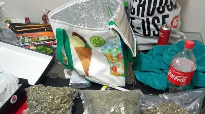 Drugs allegedly uncovered at a Mackay home.
