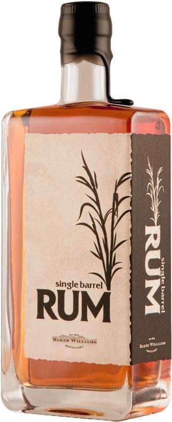 Front Baker Williams Single Barrel Rum Bottle