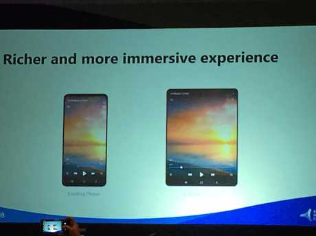 Display screen options and specifications of Samsung's new foldable smartphone - the Infinity Flex