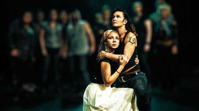 Angel Kosch and Annie Sterling in Julius Caesar.