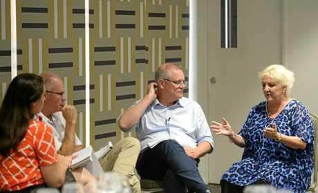 Prime Minister Scott Morrison and Michelle Landry speak to The Morning Bulletin's Frazer Pearce amd Michelle Gately in Rockhampton.