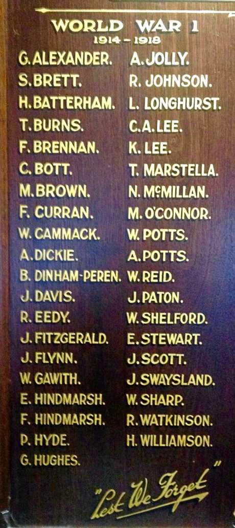 Stanthorpe R.S.L., World War I Memorial.