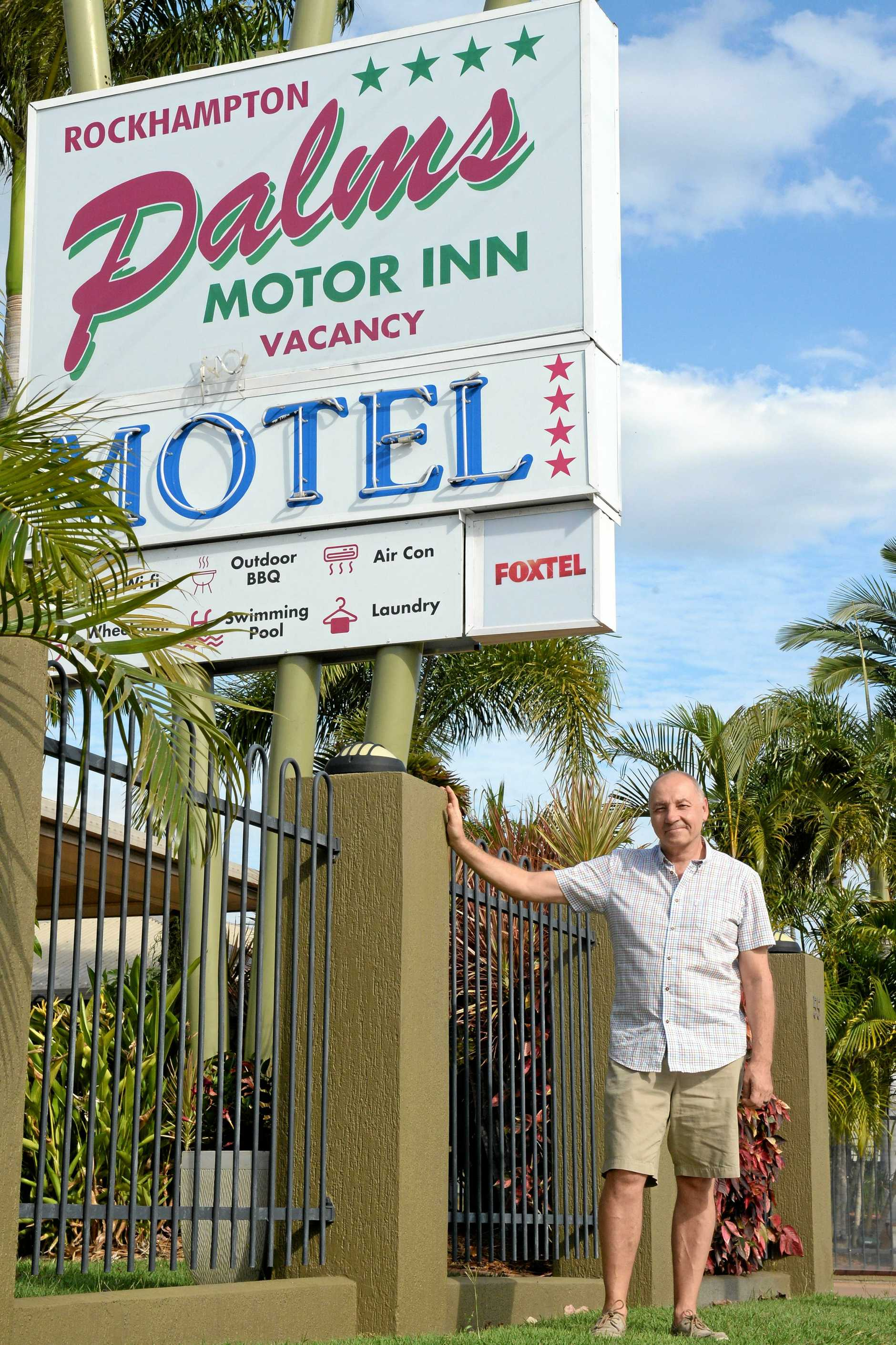 UNCERTAIN IMPACT: Rockhampton Palms Motor Inn manager Graham Noble isnt convinced there will be a detrimental impact to his business from the Ring Road.