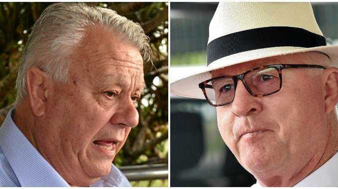 FILE PHOTOS: Cr John Connolly tried to have Mayor Mark Jamieson leave the room in a council meeting after the Mayor disclosed a conflict of interest with the Brisbane Rd carpark.
