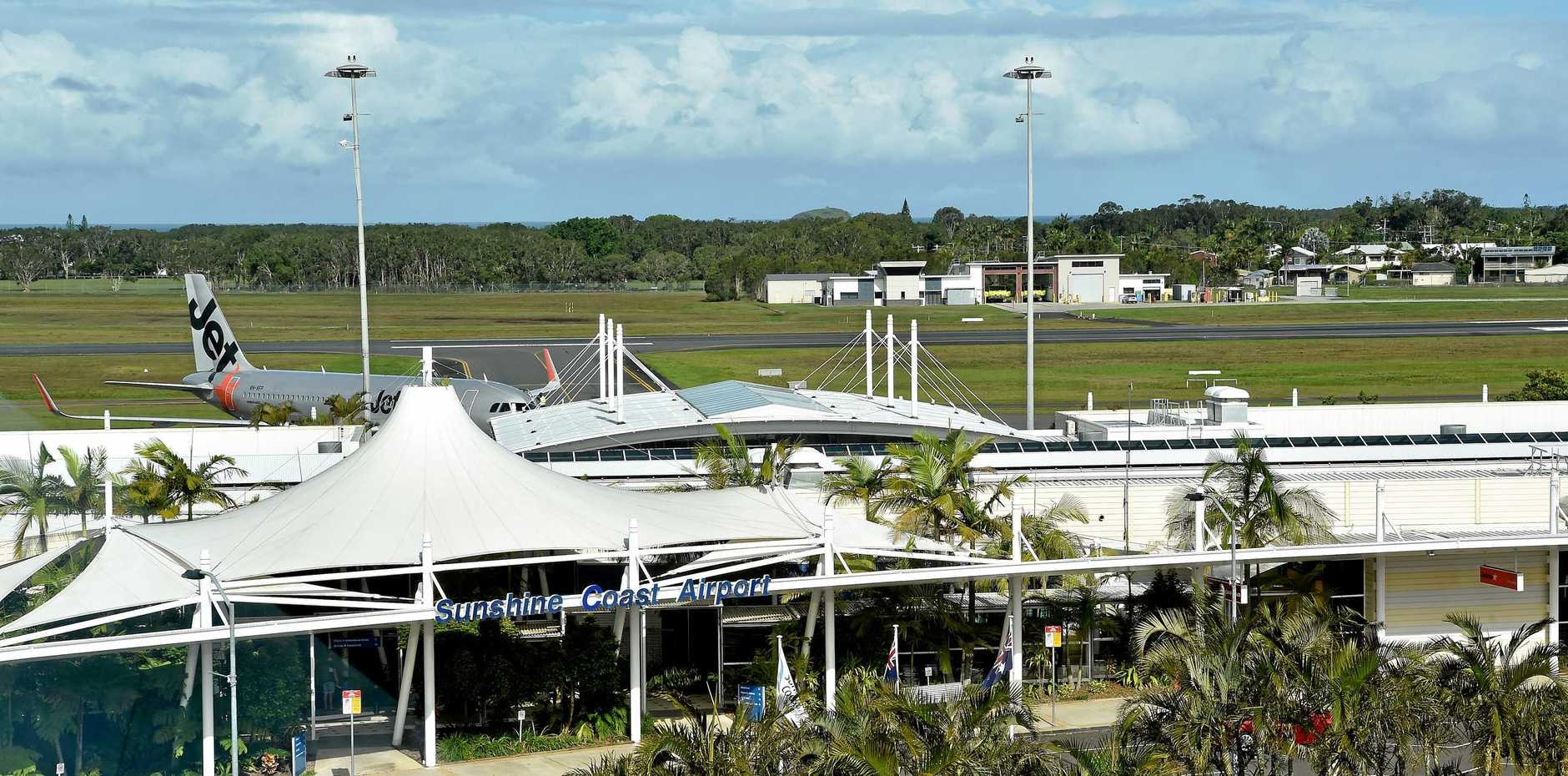Two Sunshine Coast Airport workers were verbally abused my a drunk man.