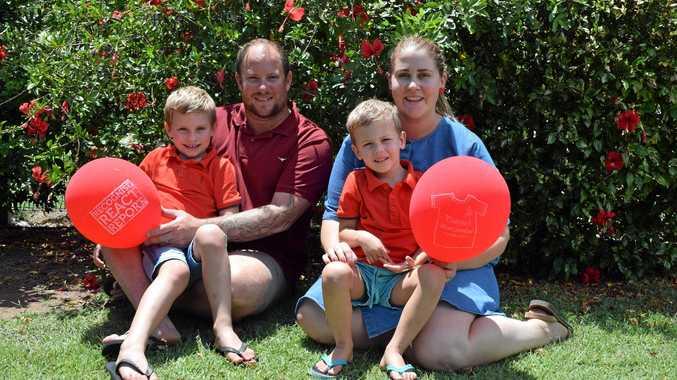 AWARENESS: Eric, Shanan, Alby and Melinda Studt support Day for Daniel.