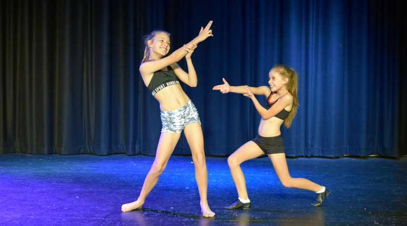 READY TO DANCE: Matilda Downey and Gracie Gersbach.
